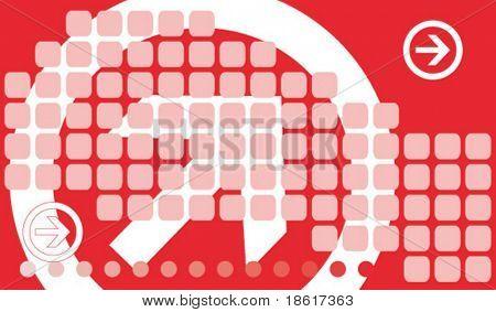 Fondo de tecnología Abstracto rojo