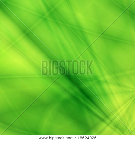 Fantasy rays on green background