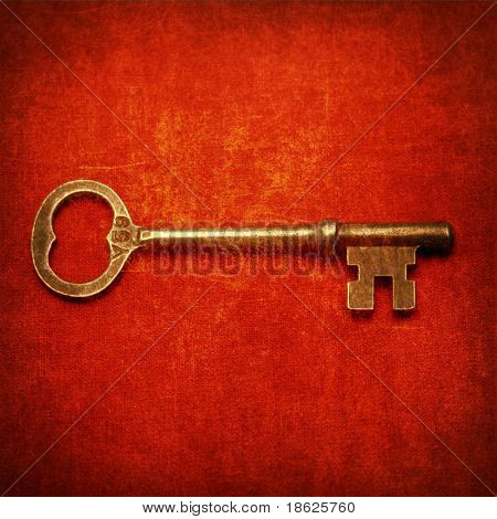 old rendering of an antique key