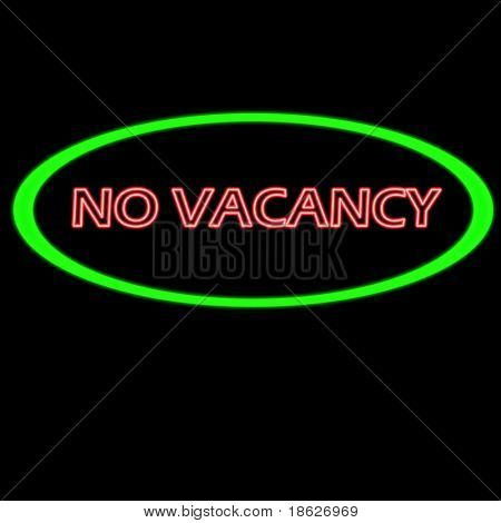 No Vacancy Sign