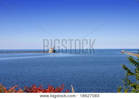 Lighthouse in Oswego New York on Lake Ontario