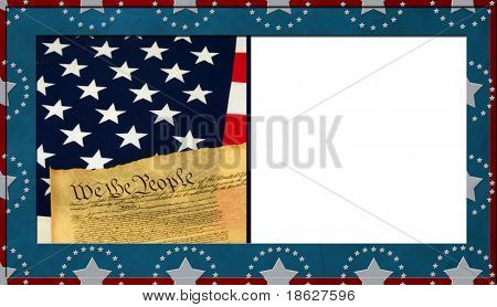 Patriotic Background with White copy space