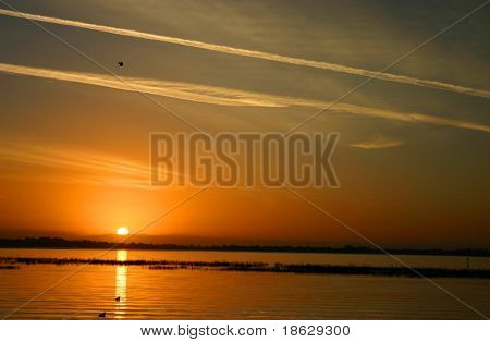 Sunrise over a Lake in Kissimmee, FLorida