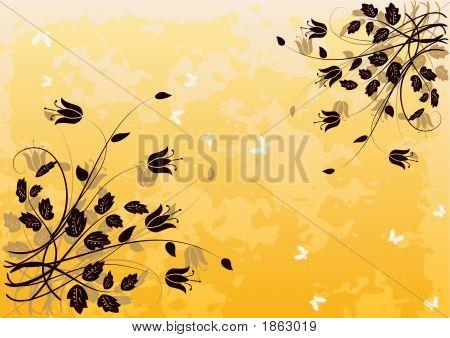 Grunge Floral Background 2