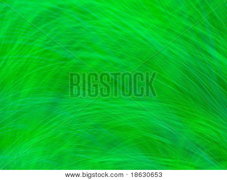 Fractal image of the abstract close up detail of wheat or grass blowing in the wind.