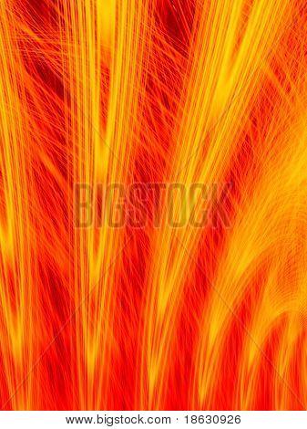 Fractal image of the emission of lit fireworks.