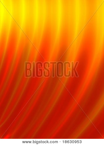 Fractal image of the abstract flames of a fire for a background.