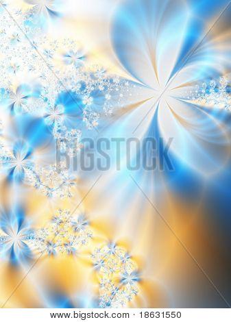 Fractal image of a pastel spring background.