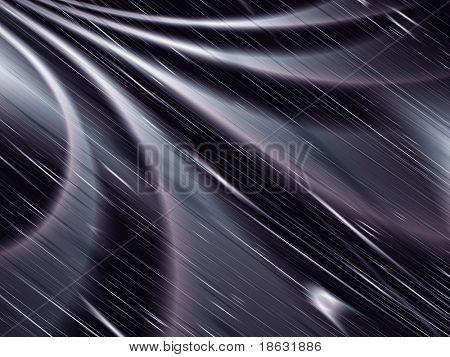 Fractal image depicting an abstract stormy night.