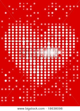 Heart display background