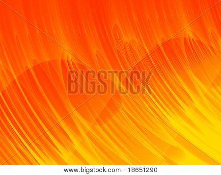 Fractal image of the abstract flames of a wall of fire.