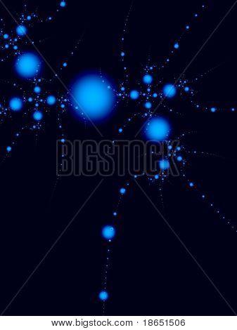 Imagen fractal de una molécula orgánica compleja.