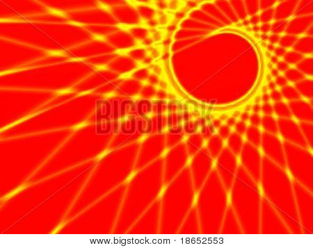 Fractal image of an abstract spiral web design.
