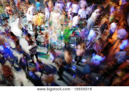 Blur dance. Element of design.