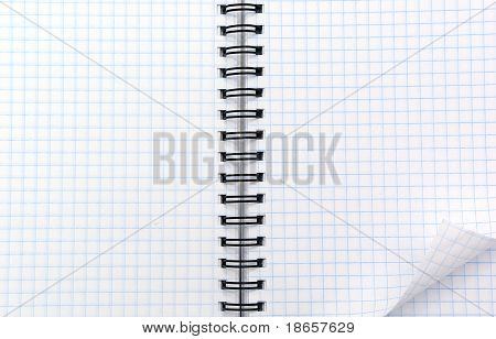 Texture of note pad . Element of design.