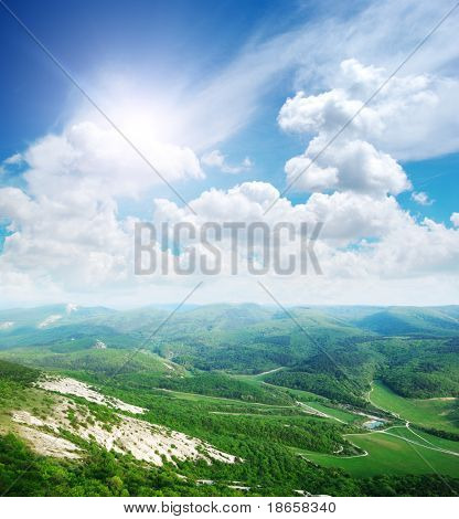Beautifol landscape in mountain. Composition of nature