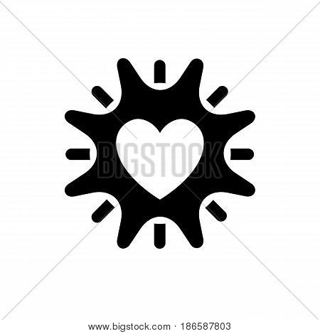 Sun. Black icon isolated on white background