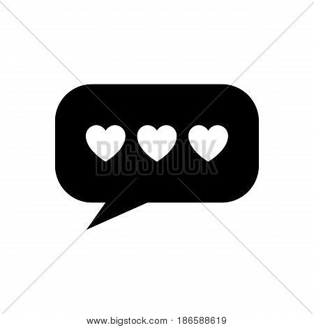 Speech Bubble. Black icon isolated on white background