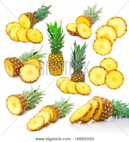 set of pineapple images