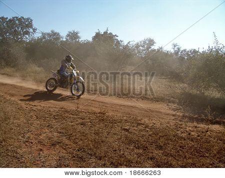 motorcycle racing in kalahari desert