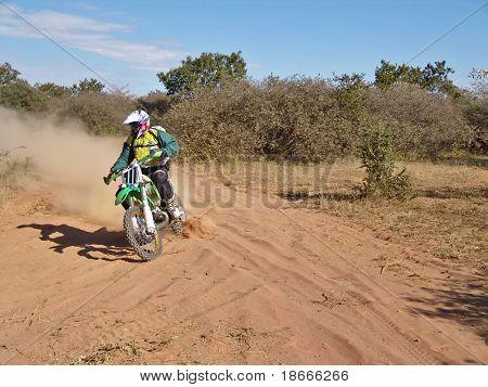 motorcycle racing in Kalhari desert