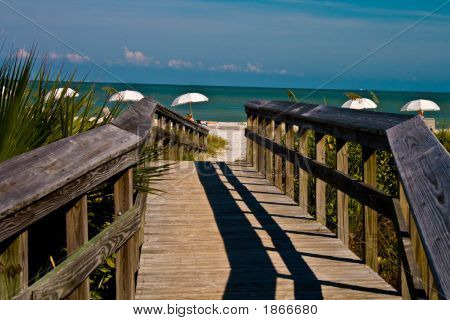 Brigde And Beach