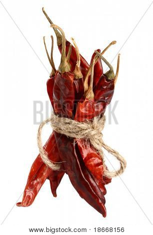 spices - bunch of dried red hot chilli chillies pepper