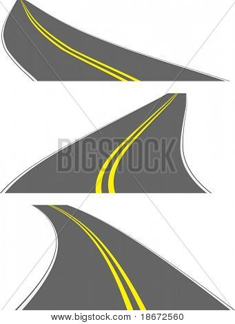 Vector perspective roads