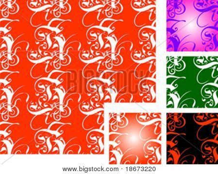 Five Tiled Vector Backgrounds. No Meshes