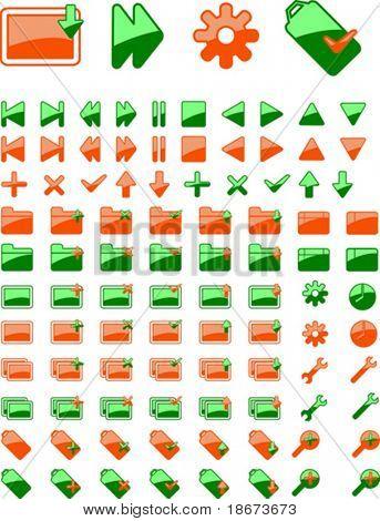 Brand New Green Orange Web Icon. part I. More In Portfolio.