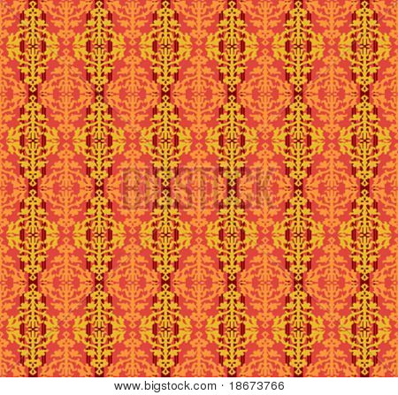 Color Floral Seamless Background Patten. Vector Illustration.