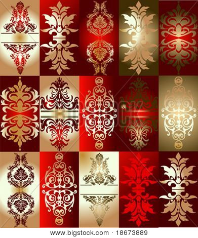 Red Gold Various Elements Ornament