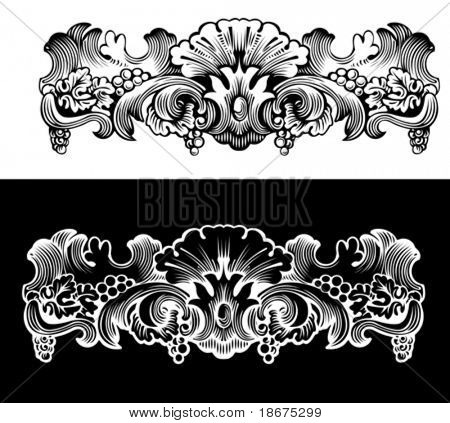 Antique Design Element Engraving, Scalable And Editable Vector Illustration