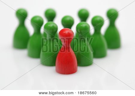 Board game pieces - symbol for leadership