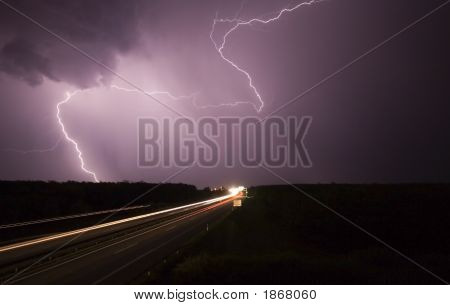 Big Storm Wiht Highway