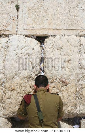 Praying At The Wailing Wall (western wall) , Jerusalem, Israel