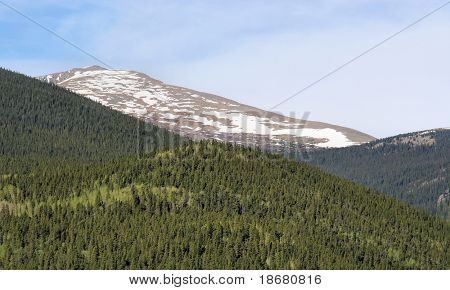 Rocky Mountains View in Spring Time