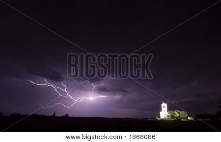 Big Storm Wiht Church