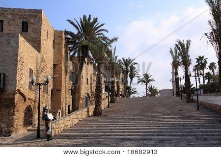 The old streets of Jaffa at early light, Tel Aviv, Israel