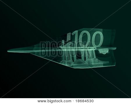 Europlane - 100 € bill aeroplane