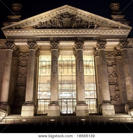 The Reichstag At Night