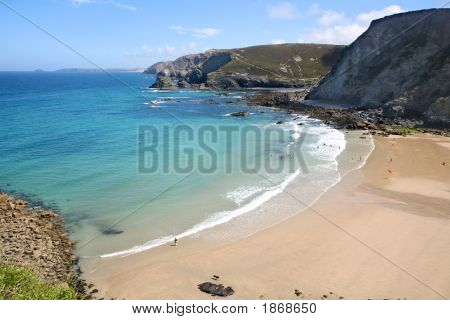 The Beach At Trevaunance Cove, St. Agnes, Cornwall.