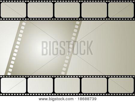 Computer designed editable vector film frame