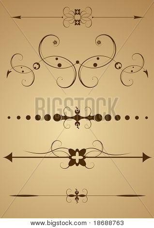 Elementos de diseño editable vector