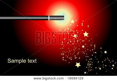 Editable vector background - magic wand