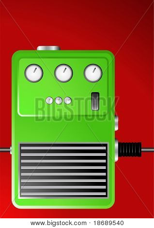 Editable vector background - Guitar effect pedal