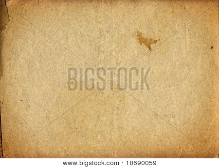 Highly detailed textured antique  paper , great grunge background for your projects  with space for your text or image