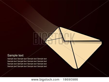 Incoming mail , modern business background with space for your text, vector illustration