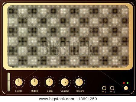Retro guitar amp