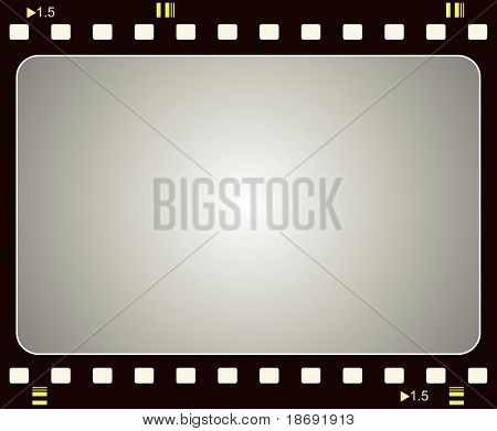 Editable vector film frame background with space for your text or image.